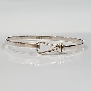 Sterling Silver Hook Bangle Bracelet